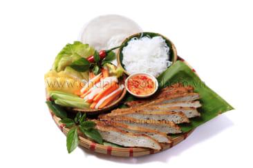 Chụp hình món ăn  chả cá