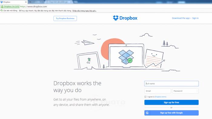 Cách sử dụng Dropbox
