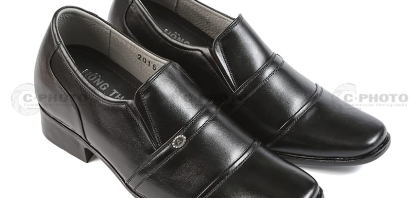 Chụp hình sản phẩm giày Hồng Thạnh.