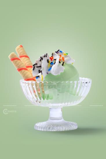 Chụp hình kem làm menu