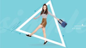 Chụp hình balo SimpleCarry với người mẫu Tuyết Nguyễn
